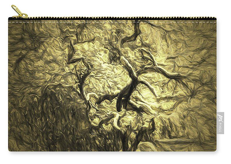 Tree Carry-all Pouch featuring the photograph Illusion Tree by Jean OKeeffe Macro Abundance Art