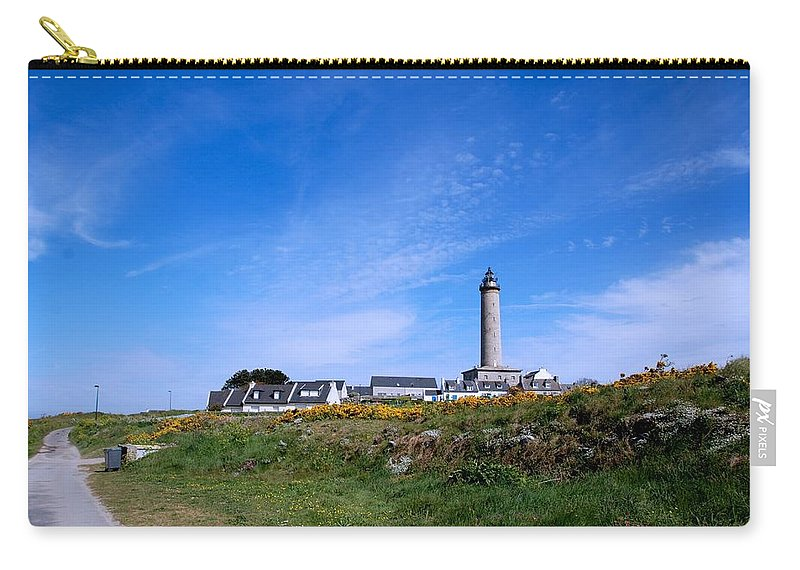 Ils De Batz Carry-all Pouch featuring the photograph Ils De Batz Lighthouse by Eric Tressler