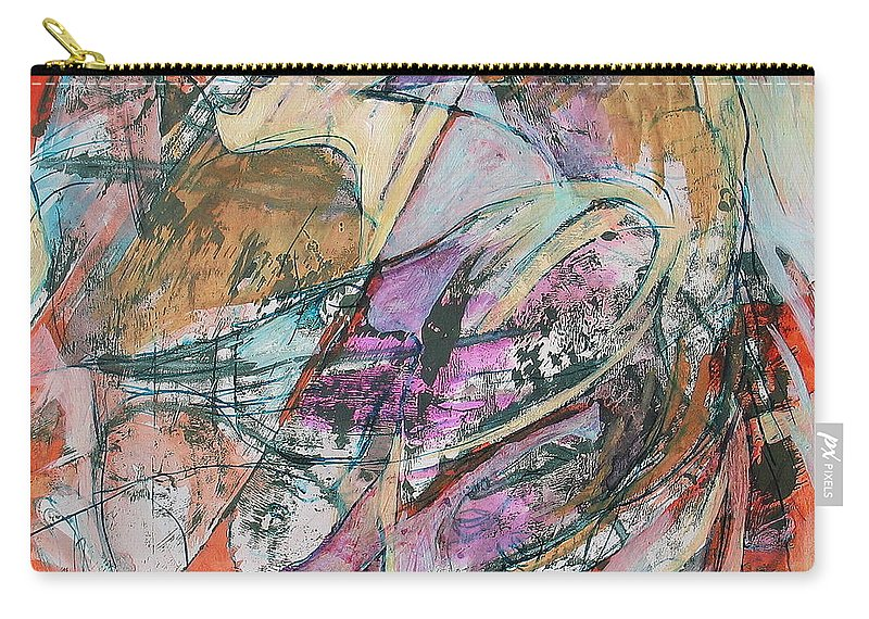 Bird Carry-all Pouch featuring the painting I'm A Bird by Floria Varnoos