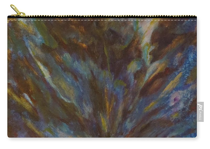 Abstract Carry-all Pouch featuring the painting I'm In Awe by Soraya Silvestri