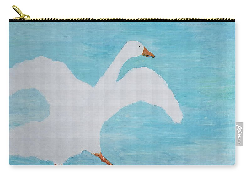 Goose Carry-all Pouch featuring the painting Im Late Again, 2000 by Jacob Sutton