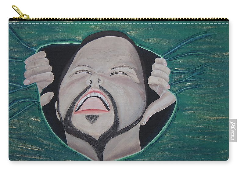 Arist Carry-all Pouch featuring the painting Im Not Insane It Is Greener by Dean Stephens