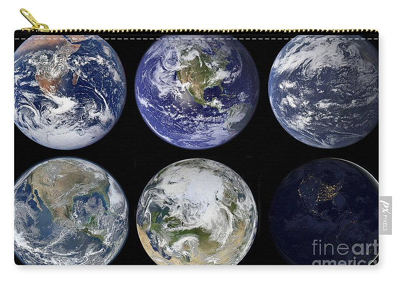 Horizontal Carry-all Pouch featuring the photograph Image Comparison Of Iconic Views by Stocktrek Images