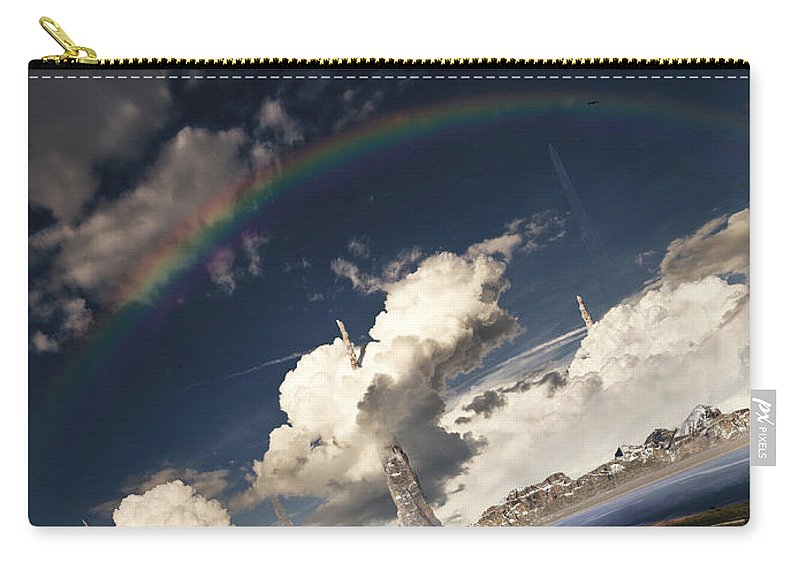 Vertical Carry-all Pouch featuring the digital art Imaginative Environment With Large by Tobias Roetsch