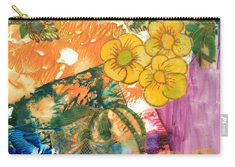 Flower Carry-all Pouch featuring the painting Imagine by Phyllis Brady