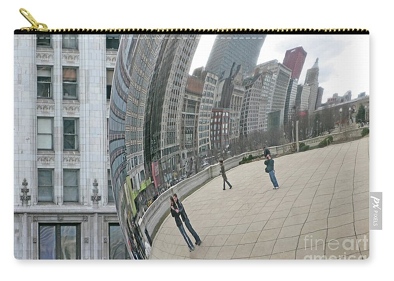 Chicago Carry-all Pouch featuring the photograph Imaging Chicago by Ann Horn