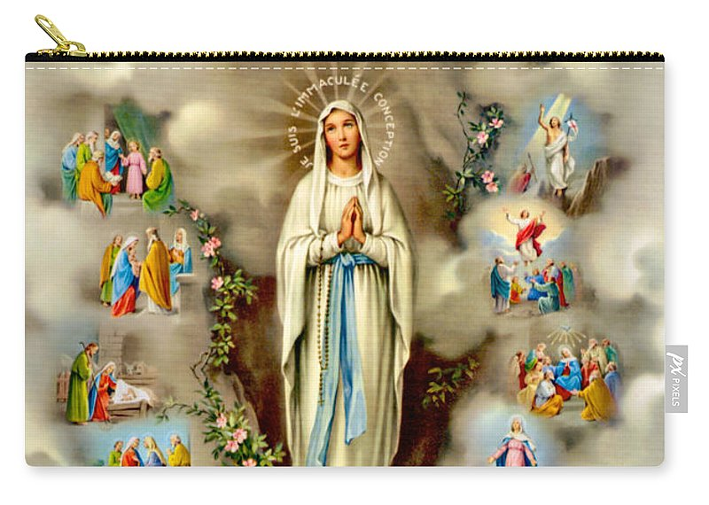 Mary Carry-all Pouch featuring the painting Immaculate Conception by Munir Alawi