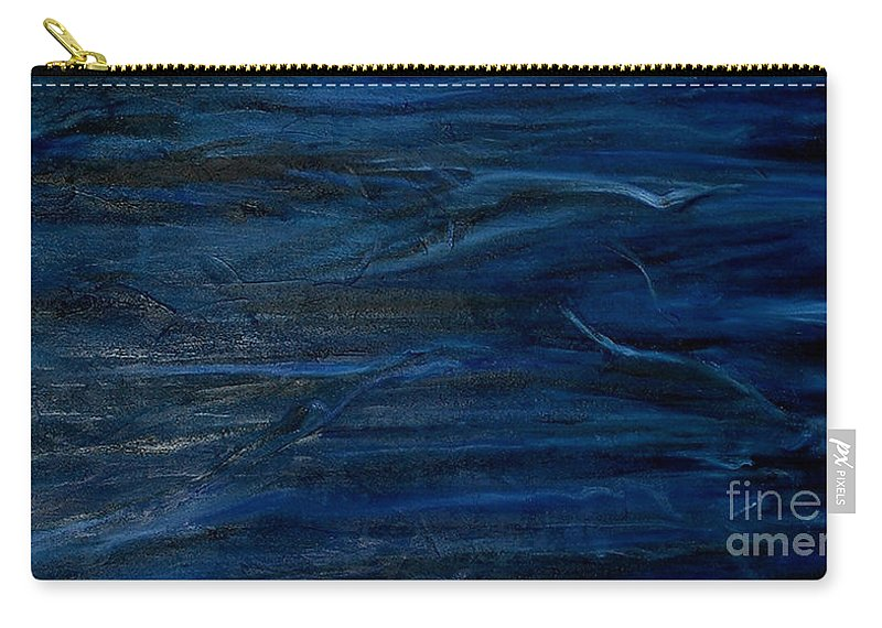 Abstract Carry-all Pouch featuring the painting Immense Blue by Silvana Abel