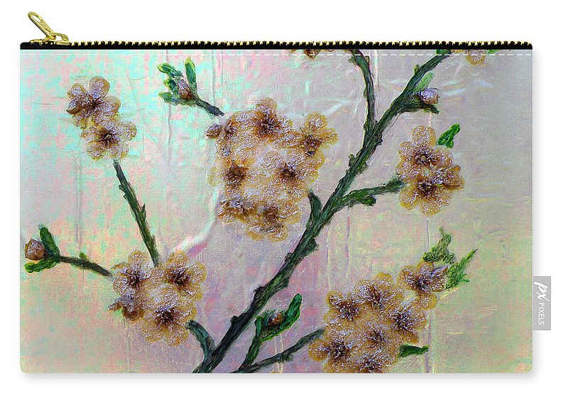 Augusta Stylianou Carry-all Pouch featuring the painting Immortal Almond by Augusta Stylianou