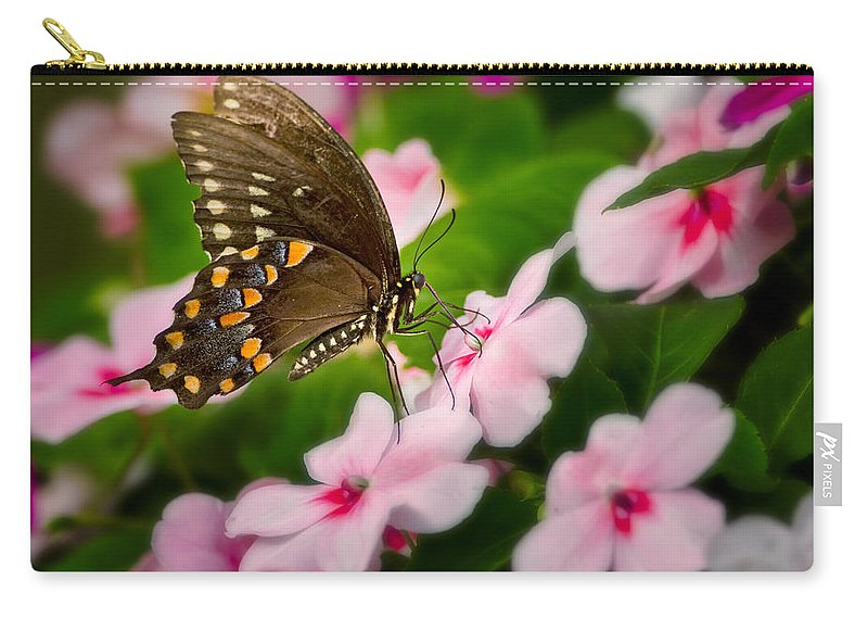Butterfly Carry-all Pouch featuring the photograph Impatient Swallowtail by Bill Wakeley