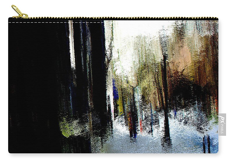 Carry-all Pouch featuring the mixed media Impending Gloom by Terence Morrissey