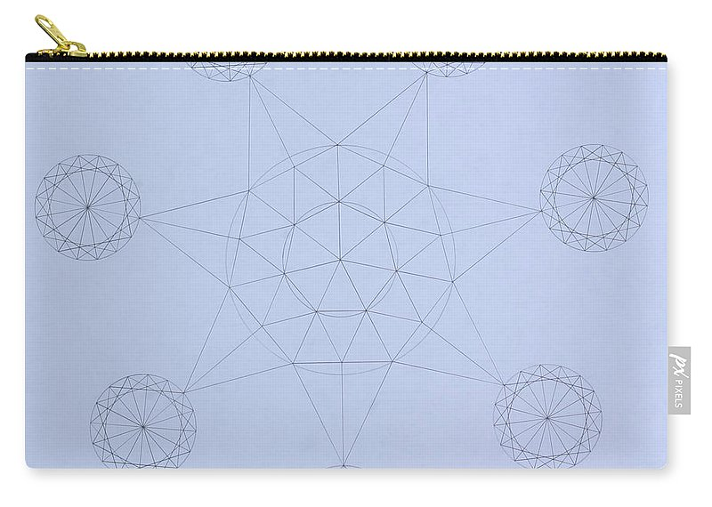 Jason Padgett Carry-all Pouch featuring the drawing Impossible Parallels by Jason Padgett