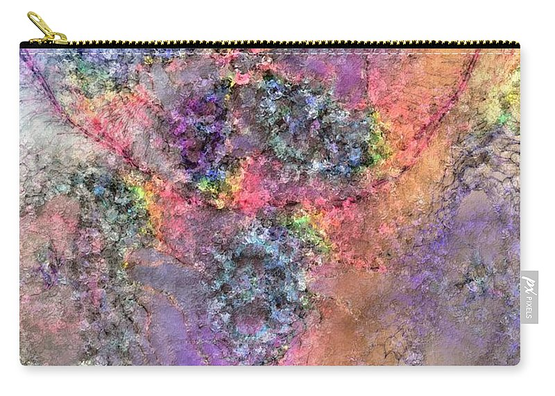 Abstract Carry-all Pouch featuring the digital art Impressionist Dreams 2 by Casey Kotas