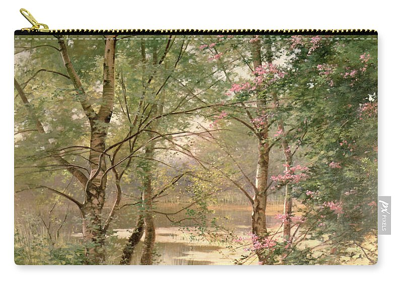 Wood Carry-all Pouch featuring the painting In A Fairy Woodland by Ernest Parton