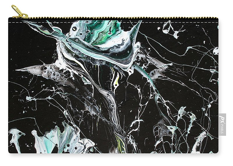 Nonobjective Art Carry-all Pouch featuring the painting In Bloom by Ric Bascobert