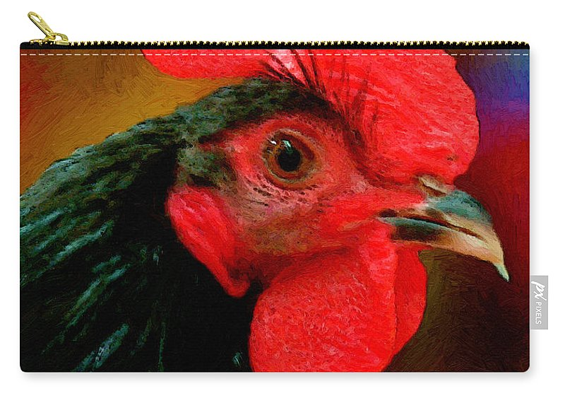 Bird Carry-all Pouch featuring the painting In Fine Fettle by RC deWinter