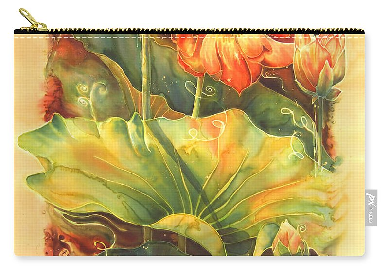 Flower Carry-all Pouch featuring the painting In Full Bloom by Deborah Younglao