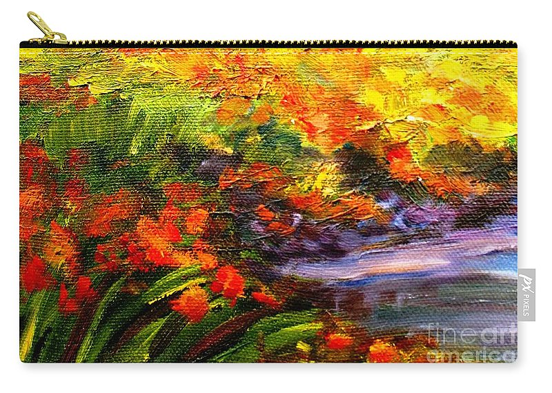 Flowers Carry-all Pouch featuring the painting In Full Bloom by Hazel Holland
