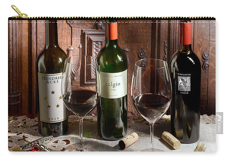 Wine Carry-all Pouch featuring the photograph In Good Company by Jon Neidert