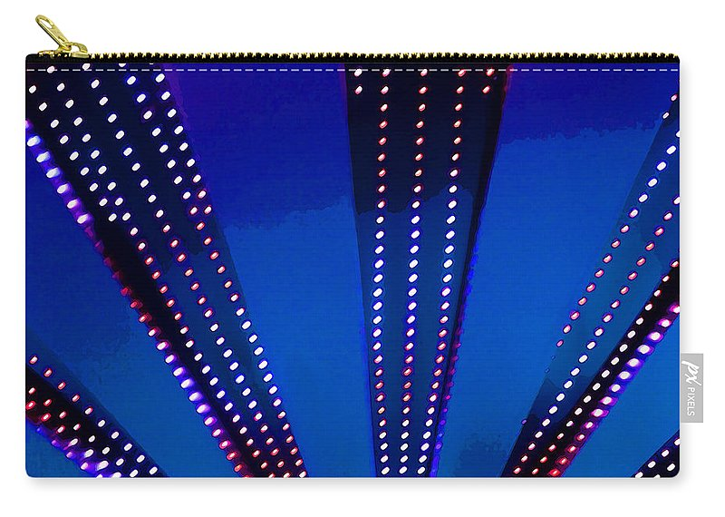 Light Carry-all Pouch featuring the photograph In Lights Abstract by Art Block Collections