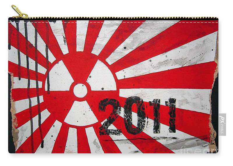 Japan Carry-all Pouch featuring the painting in memory Japan 2011 by Bela Manson