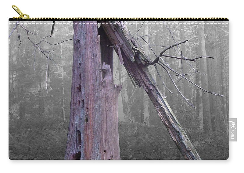 Broken Tree Carry-all Pouch featuring the photograph In Memory Of A Tree by Martin Brockhaus