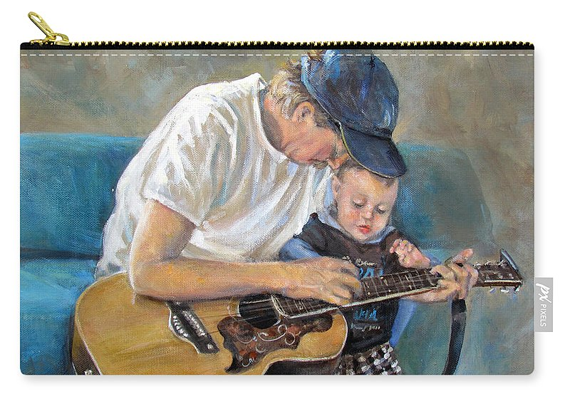 Human Carry-all Pouch featuring the painting In Memory Of Baby Jordan by Donna Tucker