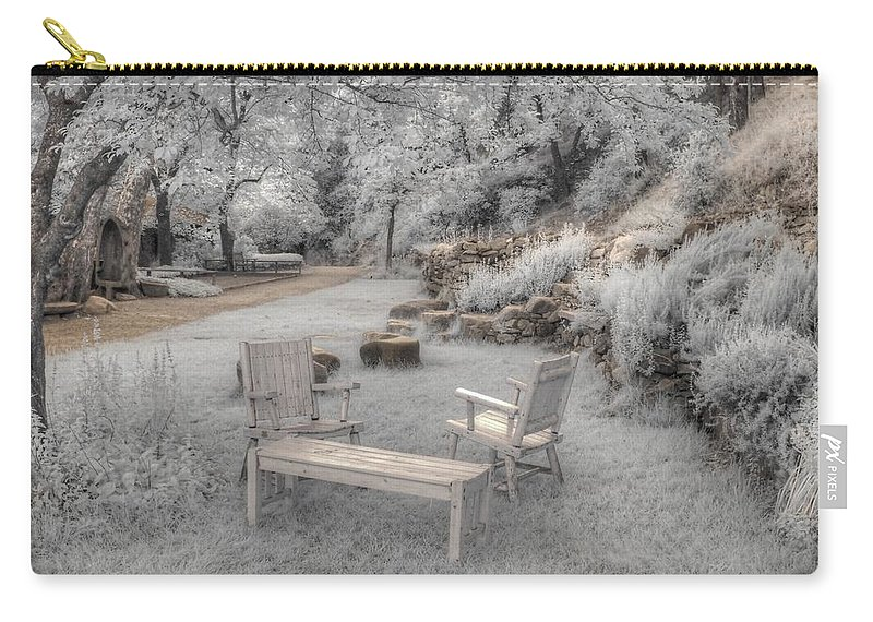 Infrared Carry-all Pouch featuring the photograph In Quiet Places by Jane Linders