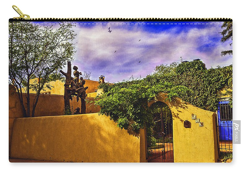 Santa Fe Carry-all Pouch featuring the photograph In Santa Fe - New Mexico by Madeline Ellis