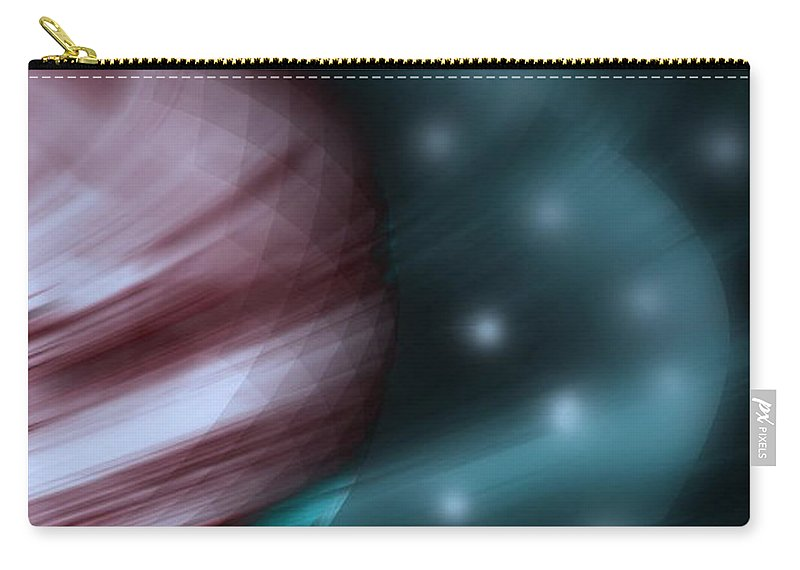 Space Art Carry-all Pouch featuring the digital art In Space by Linda Sannuti