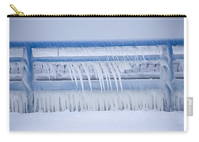 Icicles Carry-all Pouch featuring the photograph In The Bleak Midwinter by John Stephens