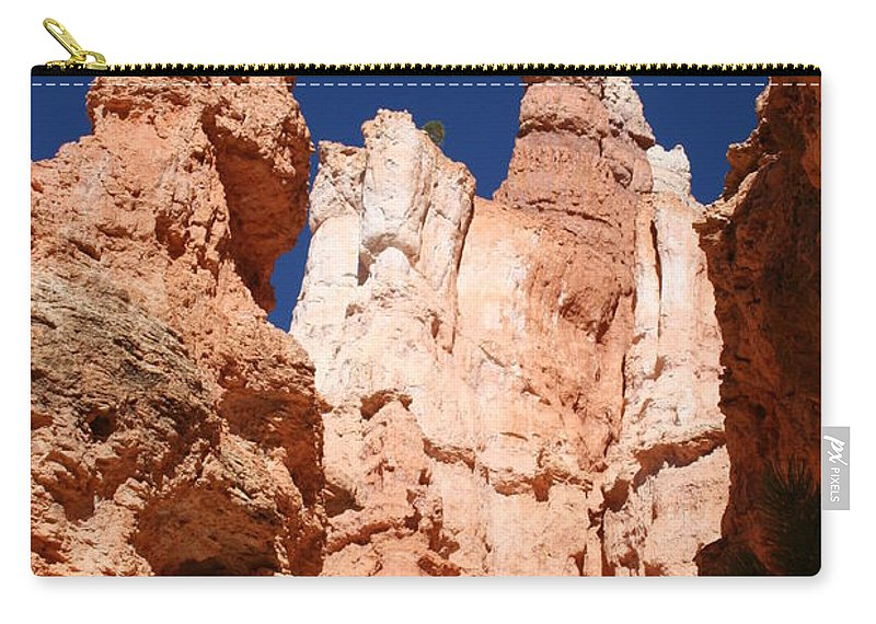 Canyon Carry-all Pouch featuring the photograph In The Bryce Canyon by Christiane Schulze Art And Photography