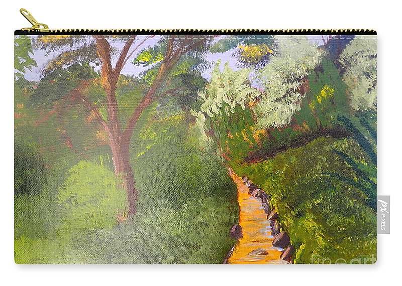 Impressionism Carry-all Pouch featuring the painting In The Bush Near My Place by Pamela Meredith