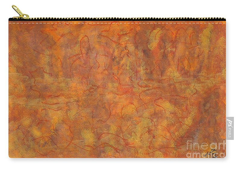 Abstract Carry-all Pouch featuring the painting In The Caverns You Will Find by Myrtle Joy