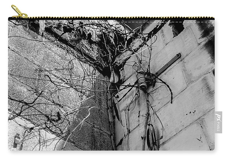 Abandoned Carry-all Pouch featuring the photograph In The Corner by Ken Frischkorn