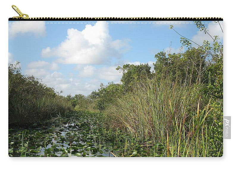 Everglades Carry-all Pouch featuring the photograph In The Everglades by Christiane Schulze Art And Photography