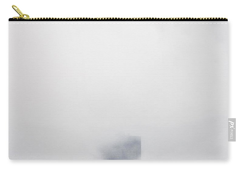 Chicago; Illinois; United States; America; United States Of America; Usa; Us; Sky; Clouds; Fog; Windy City; Storm; City; Engulfed; Building; Skyscraper; Sears; Willis; Tower Carry-all Pouch featuring the photograph In The Fog by Margie Hurwich