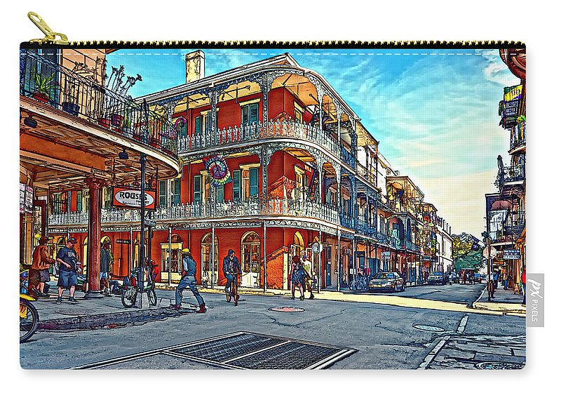 French Quarter Carry-all Pouch featuring the photograph In The French Quarter Painted by Steve Harrington