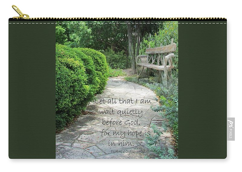 Garden Carry-all Pouch featuring the photograph In The Garden by Jewell McChesney