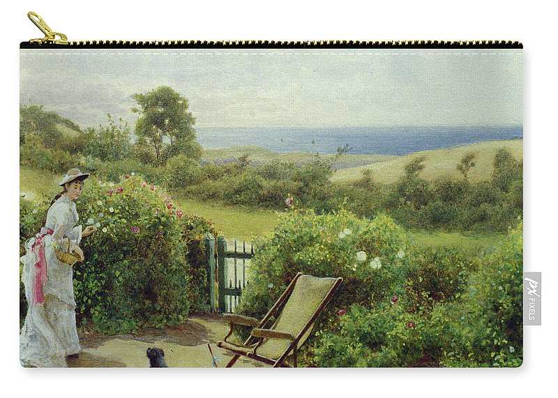 In The Garden Carry-all Pouch featuring the painting In The Garden by Thomas James Lloyd
