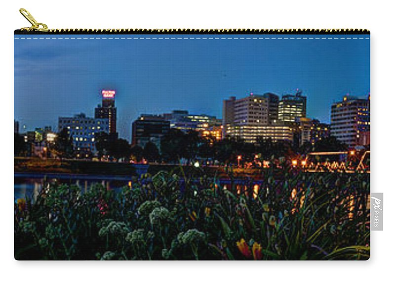 City Carry-all Pouch featuring the photograph In The Glow Of Harrisburg by Deborah Klubertanz