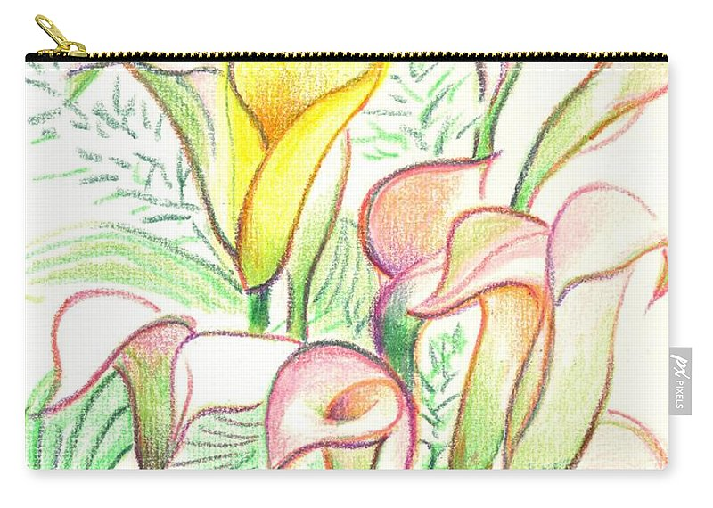 In The Golden Afternoon Carry-all Pouch featuring the painting In The Golden Afternoon by Kip DeVore