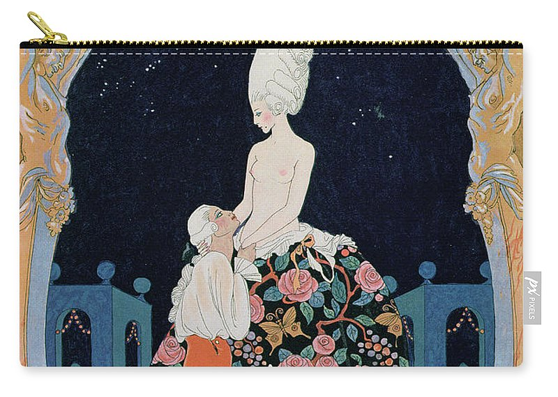 Male Carry-all Pouch featuring the painting In The Grotto by Georges Barbier