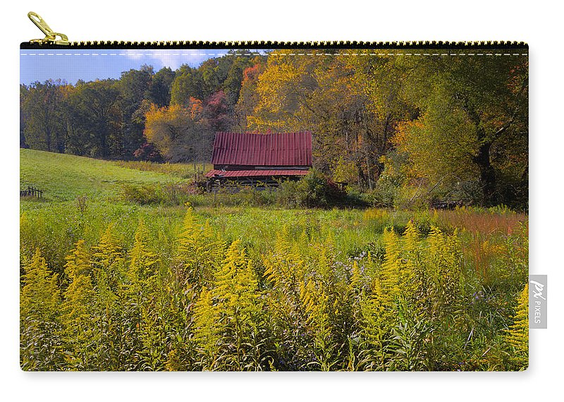 Appalachia Carry-all Pouch featuring the photograph In The Heart Of Autumn by Debra and Dave Vanderlaan