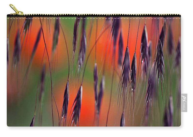 Abstract Carry-all Pouch featuring the photograph In The Meadow by Heiko Koehrer-Wagner