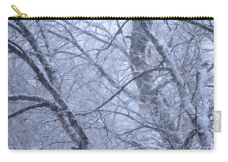 Snow Carry-all Pouch featuring the photograph In The Midst Of Majesty by Roxy Riou