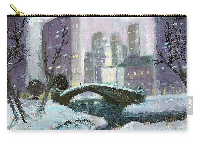 Park Carry-all Pouch featuring the painting In The Park by Robert Gross