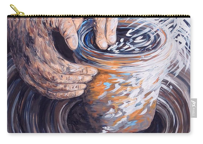 Christian Carry-all Pouch featuring the painting In The Potter's Hands by Eloise Schneider Mote
