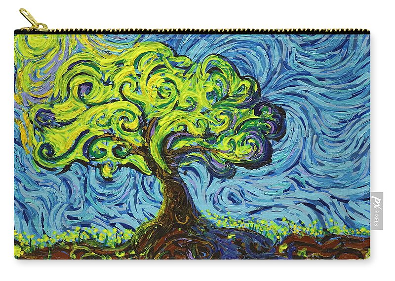 Landscape Carry-all Pouch featuring the painting In The Shade Of Glory by Stefan Duncan