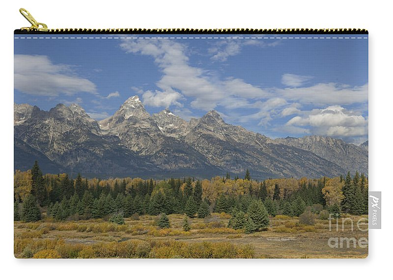 Hdr Carry-all Pouch featuring the photograph In The Shadow Of The Tetons by Sandra Bronstein